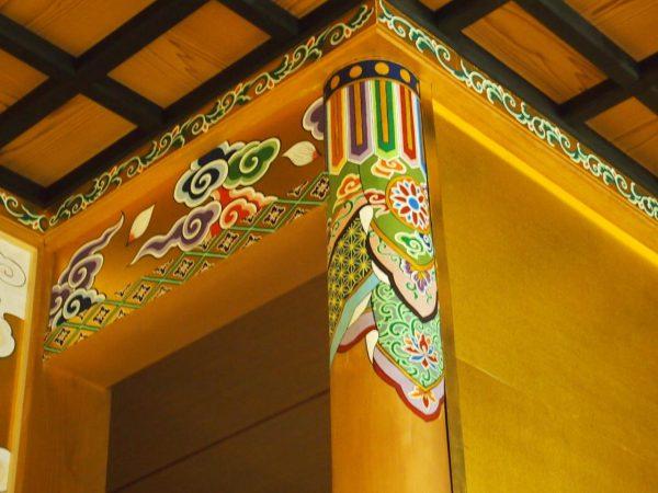 某浄土真宗寺院 内陣彩色