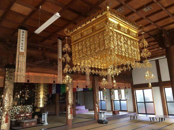 愛知県 浄土宗寺院 人天蓋 修理