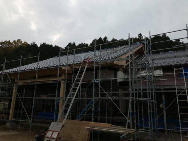 山口市寺院さま 屋根葺き替え工事