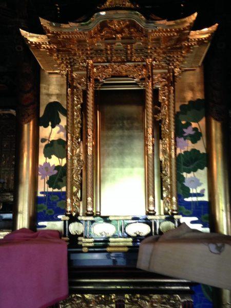 徳島県 真宗寺院 宮殿修理 及び 蓮水図