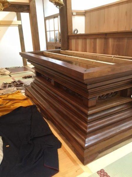 関東地区 某寺院様 須弥壇 修理納品
